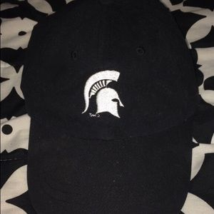 Black and white MSU Sparty cap